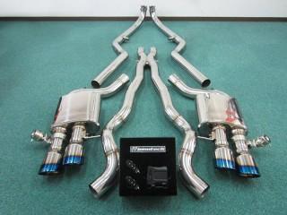 BMW M6 (F13) 用 iPE 可変バルブマフラー1