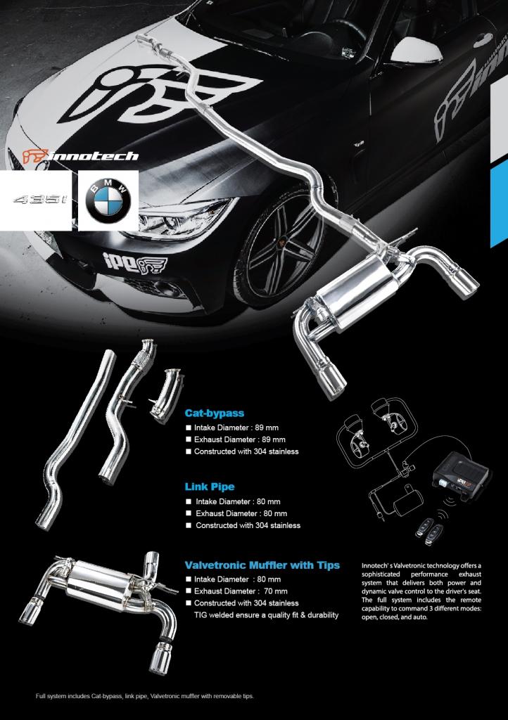 435i F30F32 DME 可変 バルブ マフラー イノテック リモコン チューニング BMW オフィス クーペ 4シリーズ