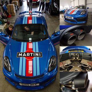 ポルシェ ケイマン GT4 MARTINI に iPE 可変バルブマフラー2