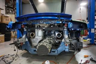 アウディ R8 V10 5.2L 後期 iPE マフラー装着2