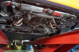 ポルシェ 997 ターボ × iPE 可変バルブマフラー5