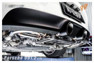 ポルシェ 991カレラ (後期) 用 iPE 可変バルブマフラー [フルシステム]4